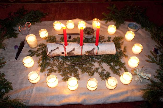Candles at the Winter Solstice Celebration